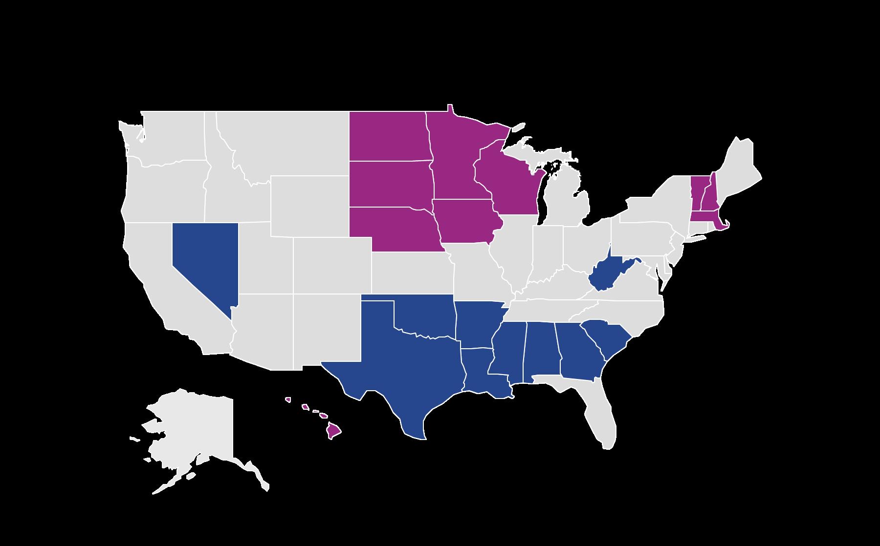 Vantage score by states