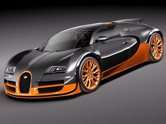 fastest car in the world - Bugatti Veyron