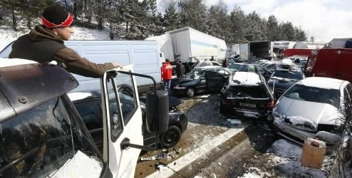 Highway Car Pileup