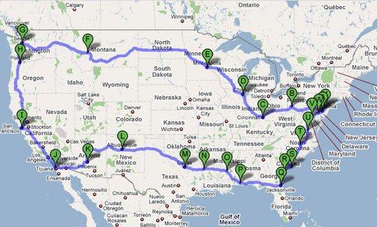 RV Circuitous Road Trip