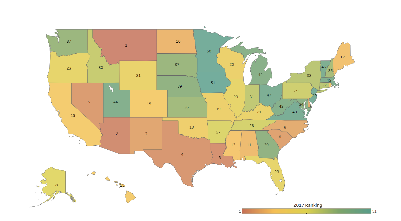 10 states with the worst drivers new data